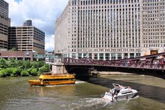 Chicago Water Taxi Royalty Free Stock Images