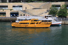 Chicago Water Taxi Royalty Free Stock Photography