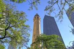 Chicago Water Tower. The Chicago Water Tower is a landmark in the Old Chicago Water Tower District royalty free stock image