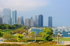 Chicago waterfront Royalty Free Stock Photography