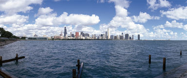 Chicago Waterfront, Royalty Free Stock Photos