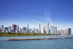 Chicago waterfront and city skyline on a sunny day, USA Stock Photos