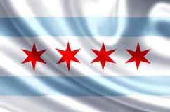 Chicago flag illustration royalty free illustration
