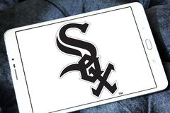 Chicago White Sox baseball team logo. Logo of Chicago White Sox team on samsung tablet. The Chicago White Sox are an American professional baseball team Stock Photos