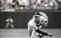Bobby Thigpen. Chicago White Sox closer Bobby Thigpen. Image taken from B&W negative stock images