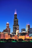 Chicago Willis tower. CHICAGO, IL - Oct 1: Willis tower close up on October 1, 2011 in Chicago, Illinois. Willis Tower know as the famous landmark is 1451 feet stock images