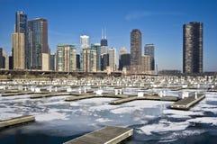 chicago winter Στοκ Εικόνα