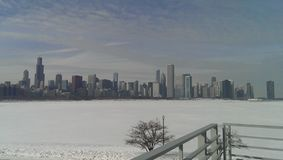 chicago winter Στοκ Εικόνες