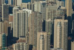 Chicago-Winter (Ariel-Ansicht) Lizenzfreies Stockfoto