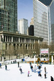 Chicago Winter Dance Festival. Skaters enjoy the 2011 Chicago Winter Dance at Millennium Park in Chicago, Illinois. The festival is ongoing through March 14 Stock Image