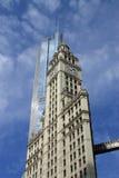 здание chicago wrigley Стоковое Изображение RF