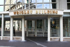 Chicago - Wrigley Building Entrance Royalty Free Stock Photos