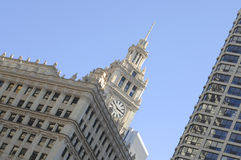 Chicago, Wrigley de Bouw Stock Foto's