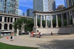 Chicago Wrigley Square in Millenium Park Stock Photos