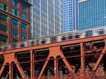 chicago wynosił pociąg Obraz Stock