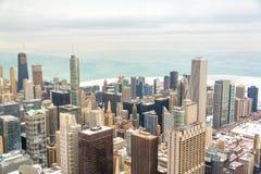 Chicago y el lago Michigan Foto de archivo libre de regalías