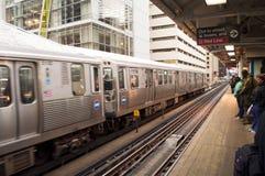 Chicago-Zug Lizenzfreie Stockfotos