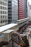 Chicago-Zug Stockfoto