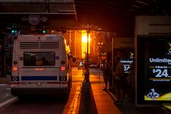 Chicagohenge стоковые фото