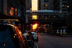 Chicagohenge стоковые фотографии rf