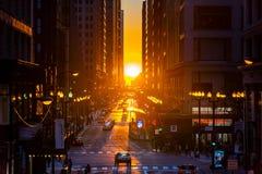 Chicagohenge стоковое изображение