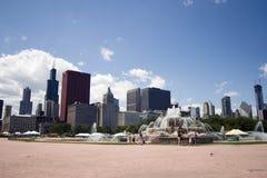 Chicagos Buckingham Brunnen Stockbilder