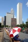 Chicagos Jahrtausend-Park stockbild