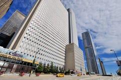 Chicagowscy drapacze chmur grupa i ulica, Illinois Obrazy Stock