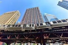 Chicagowska CTA metra pętla fotografia stock