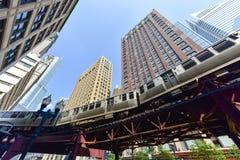 Chicagowska CTA metra pętla zdjęcie stock