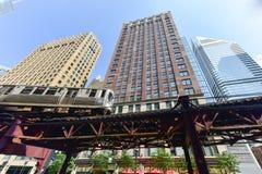 Chicagowska CTA metra pętla Fotografia Royalty Free