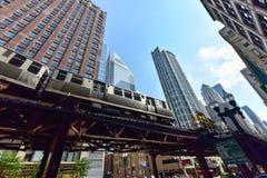 Chicagowska CTA metra pętla Zdjęcia Stock