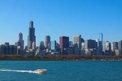 Chicagowska linia horyzontu Zdjęcia Stock