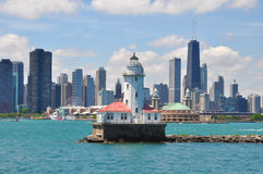 Chicagowska Linia horyzontu Obrazy Royalty Free