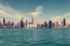 Chicagowska Linia horyzontu zdjęcia royalty free