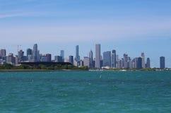 Chicagowska linia horyzontu i jezioro michigan widzieć od 31st Ulicznego schronienia Obraz Royalty Free