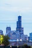 Chicagowska linia horyzontu, Illinois, usa Fotografia Stock