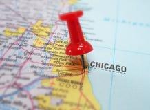 Chicagowska mapa Fotografia Stock