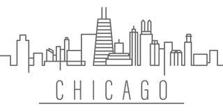 Chicagowska miasto konturu ikona Elementy miast i kraj?w ilustracji ikona Znaki i symbole mog? u?ywa? dla sieci, logo, wisz?ca oz ilustracja wektor