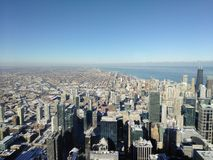 Chicagowska miasto linia horyzontu podczas dnia Obrazy Stock
