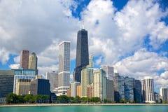 Chicagowska miastowa linia horyzontu Obrazy Royalty Free