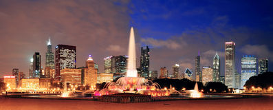 Chicagowska panorama Fotografia Royalty Free
