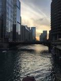 Chicagowska rzeka fotografia royalty free