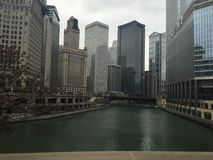 Chicagowska rzeka Obraz Royalty Free