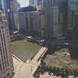 Chicagowska rzeka Zdjęcia Stock
