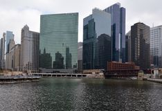 Chicagowska rzeka Y Zdjęcia Royalty Free