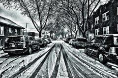 Chicagowska sąsiedztwo ulica Zdjęcie Stock