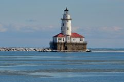 Chicagowska schronienie latarnia morska Obrazy Royalty Free