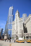 Chicagowska Uliczna Scena Obrazy Royalty Free