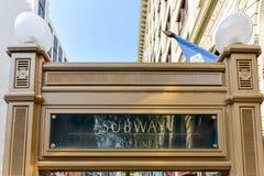 Chicagowski CTA metra wejście Fotografia Royalty Free
